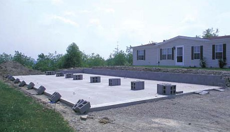 Mobile Home Foundation Plans | Mobile Home Foundation System ... on design a mobile home, blocking a mobile home, setting footers for modular home,